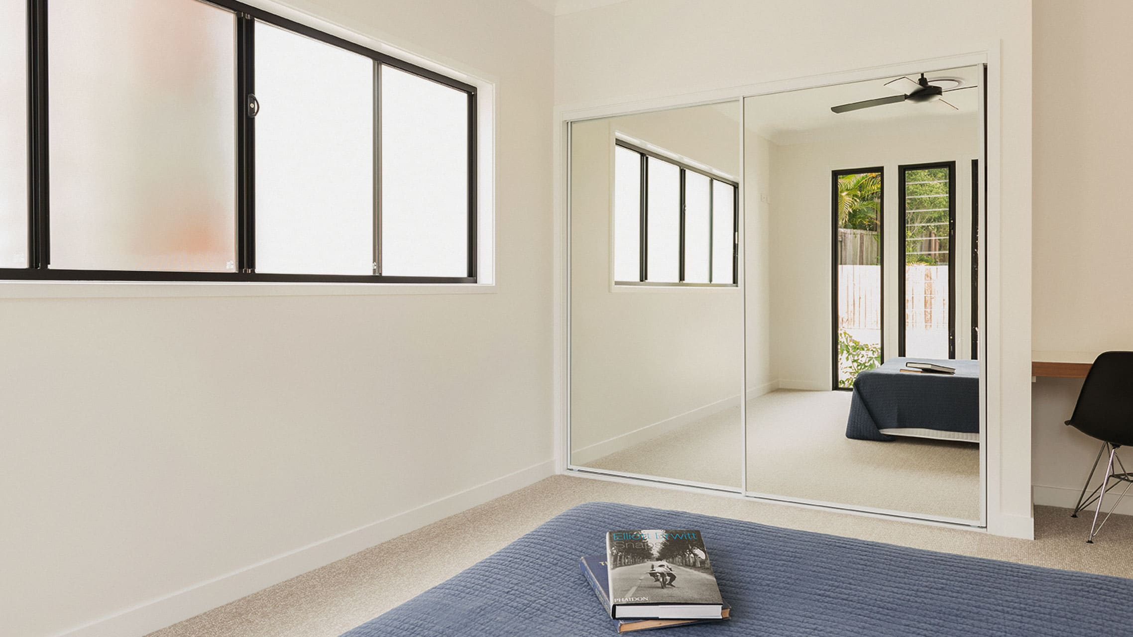 Black Aluminium Sliding Windows with obscure glass