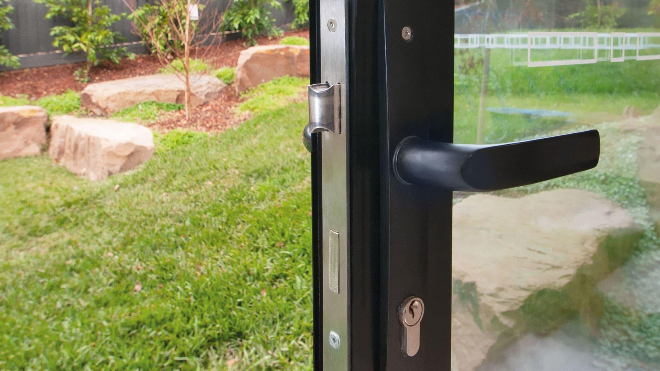 Black Bi fold Door internal handle