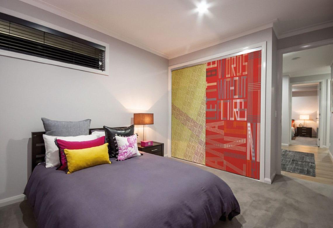 Sliding Wardrobe Doors with image glass