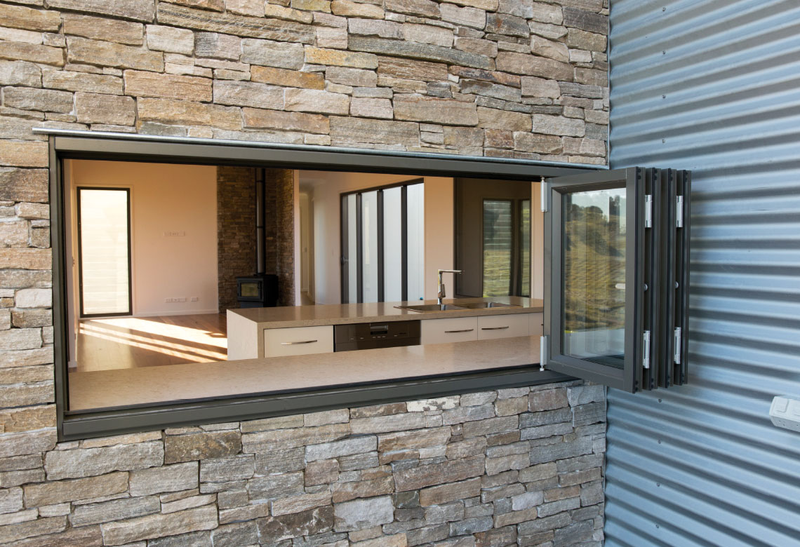 Woodland Grey Aluminium Bi fold Windows design idea