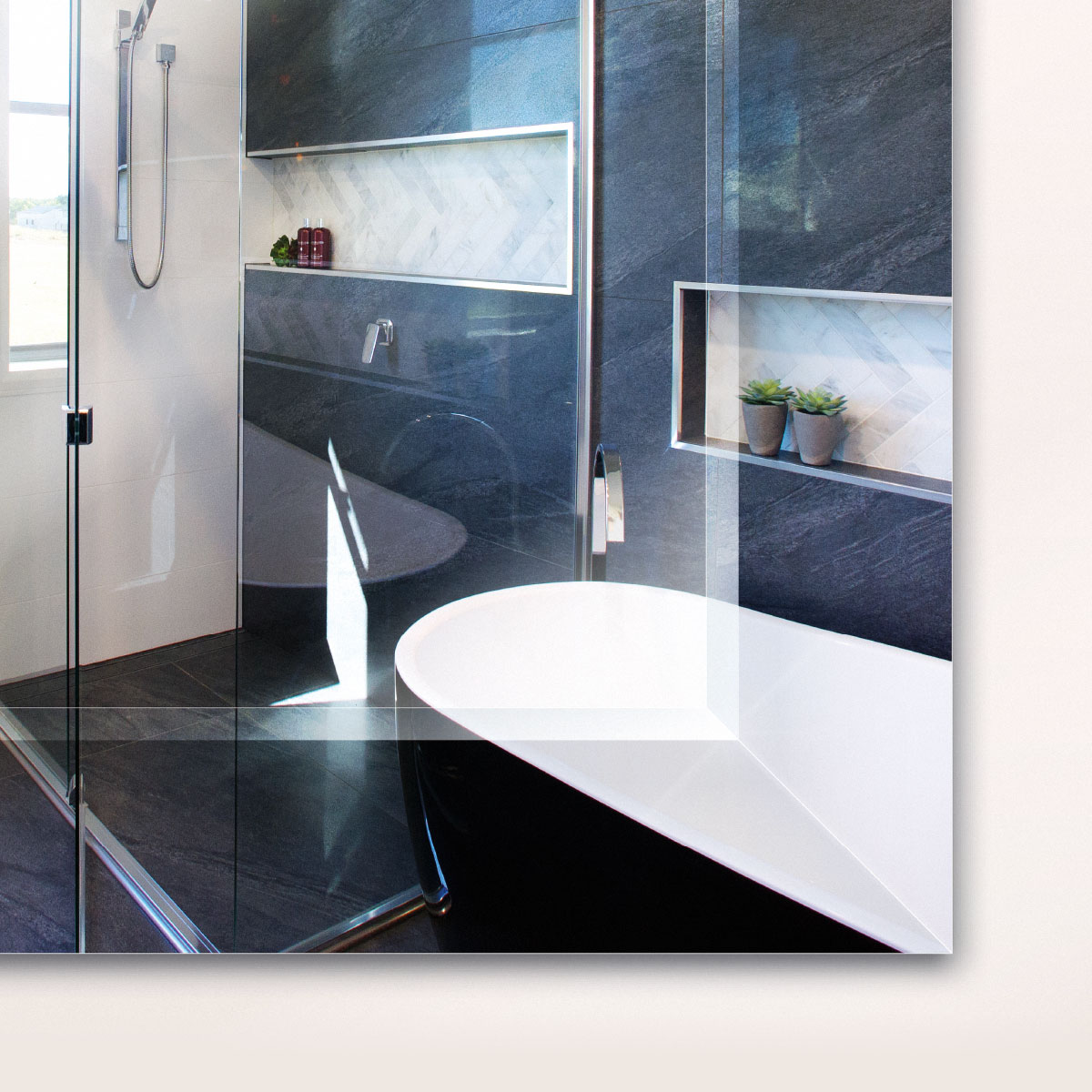 Frameless Mirror bevelled edge