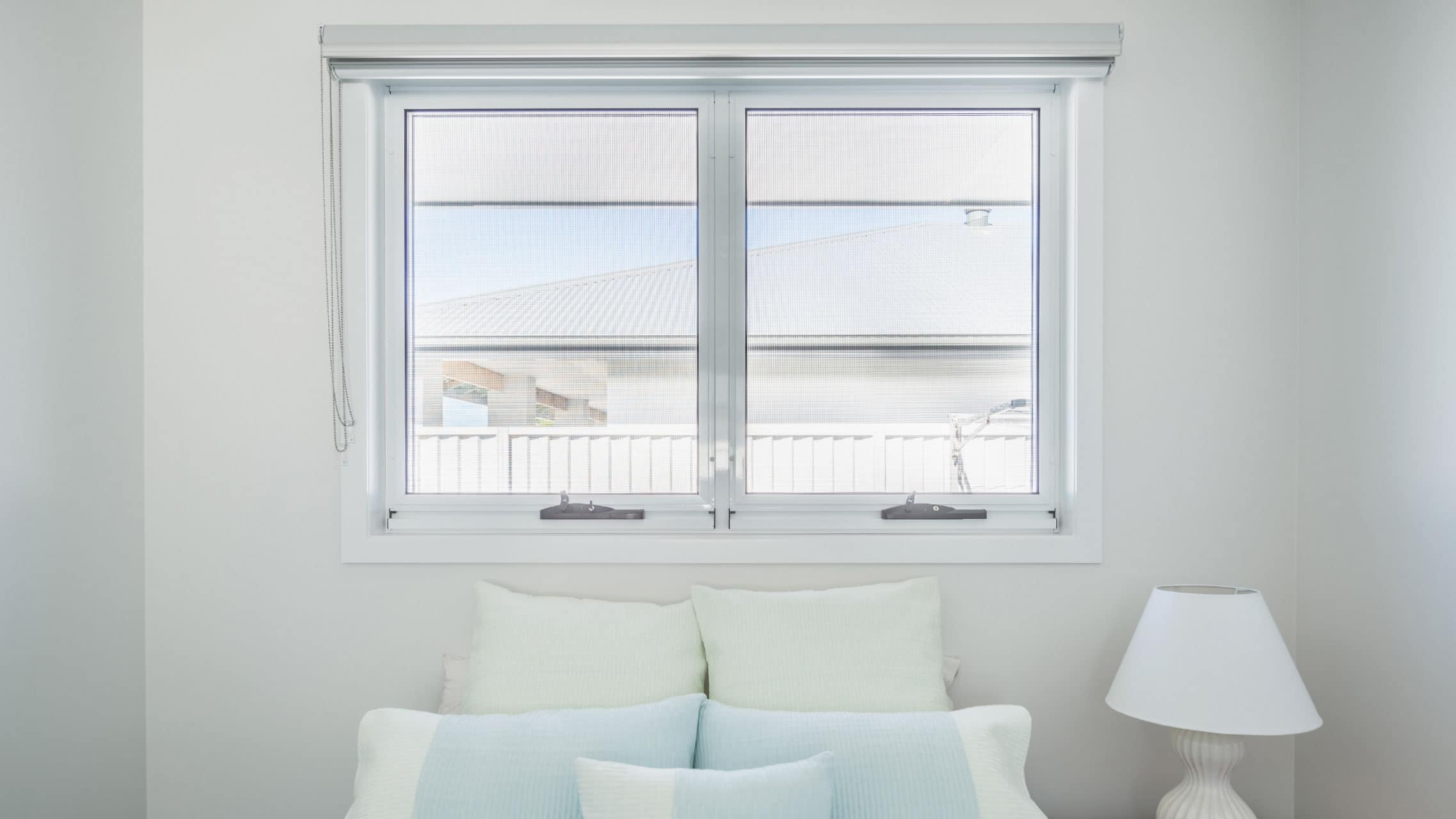 White Awning Window with insect screen