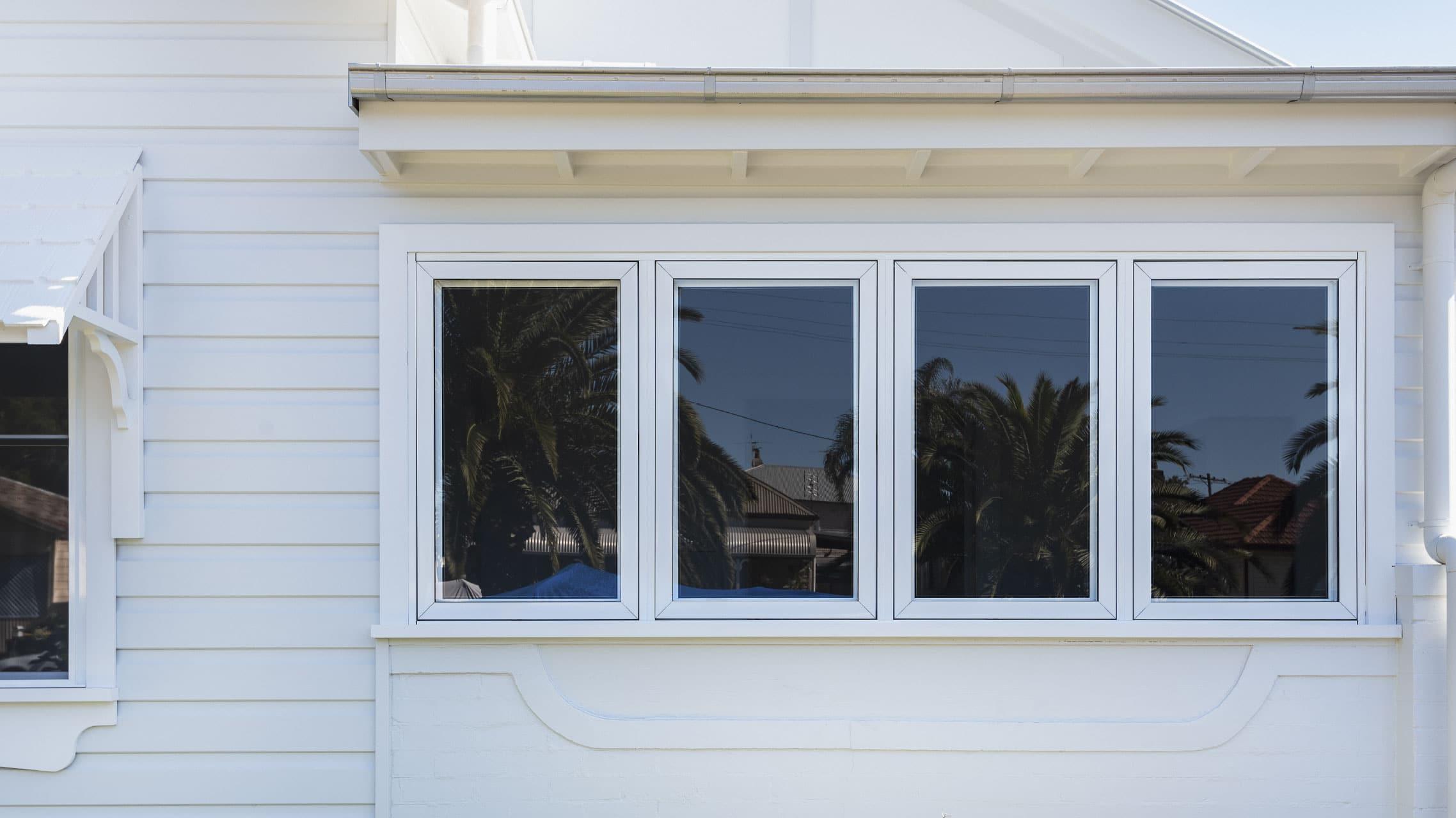 White Casement Windows closed