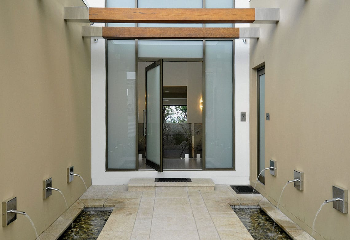 Large Entry Door with privacy glass