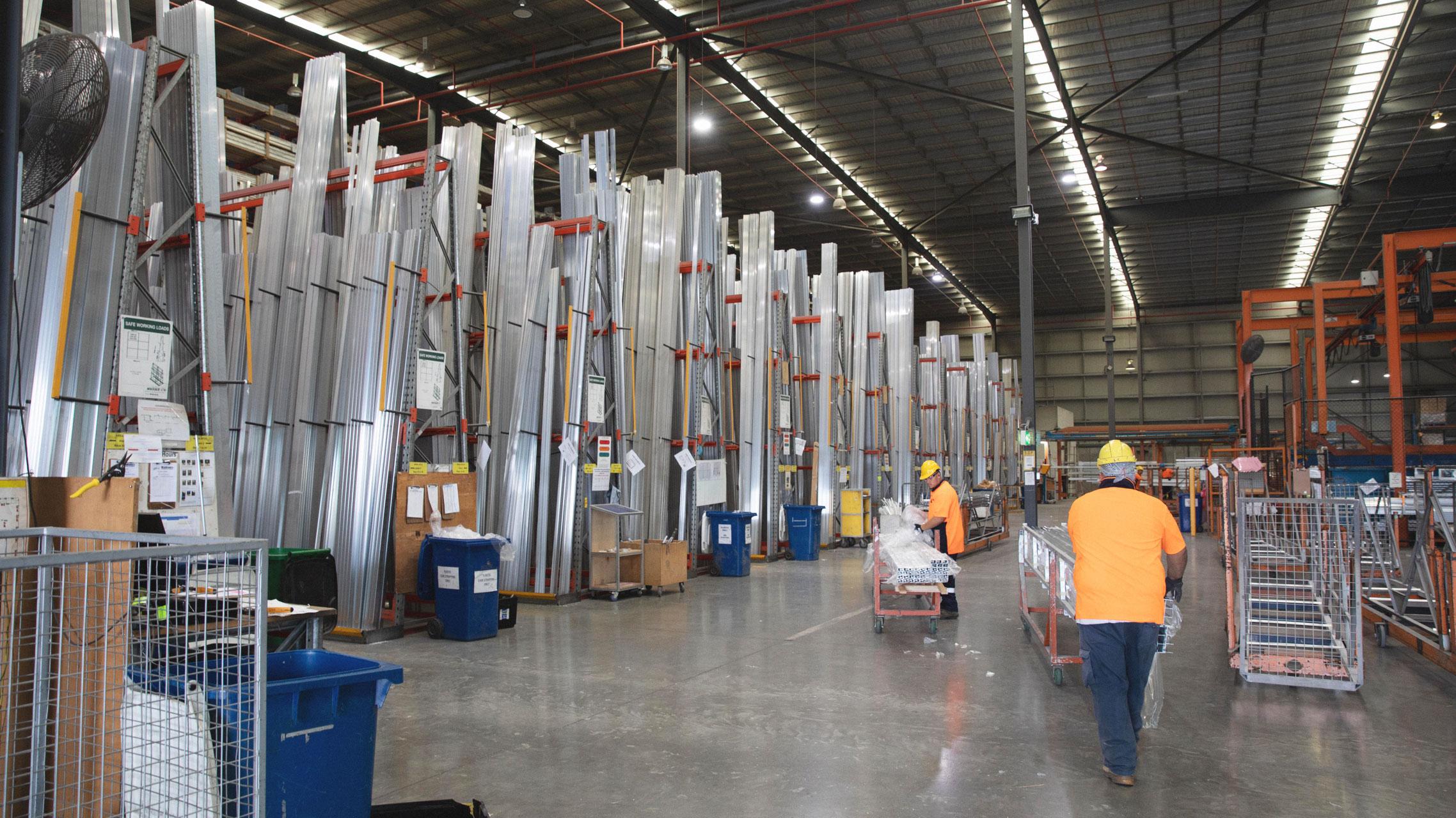 Bradnam's Windows & Doors aluminium distribution centre 3