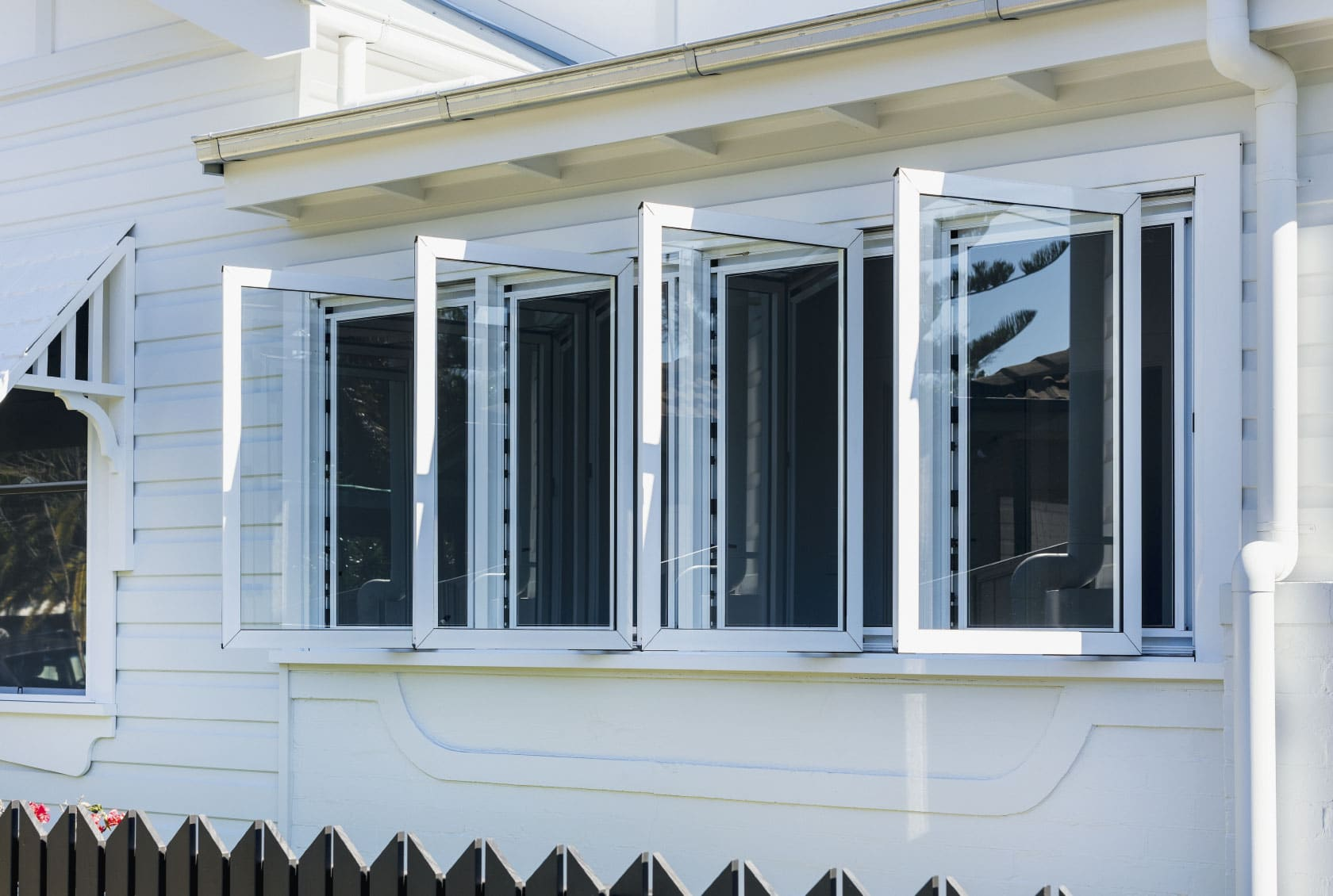 Four Aluminium Casement Windows