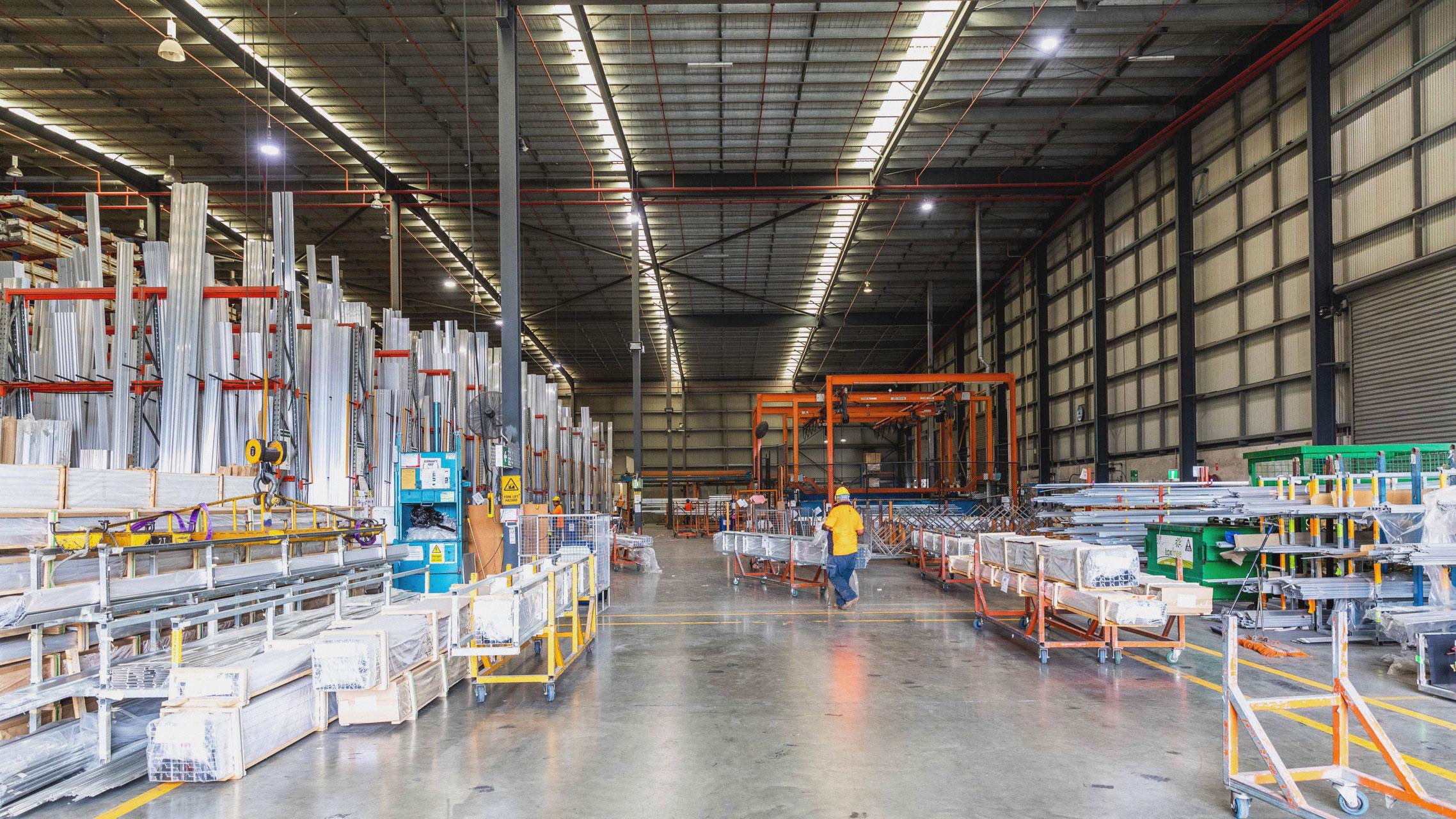 Bradnam's Windows & Doors aluminium distribution centre 5