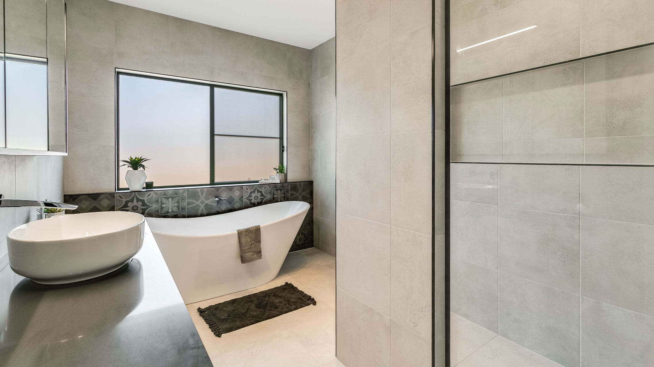 Sliding Window in bathroom