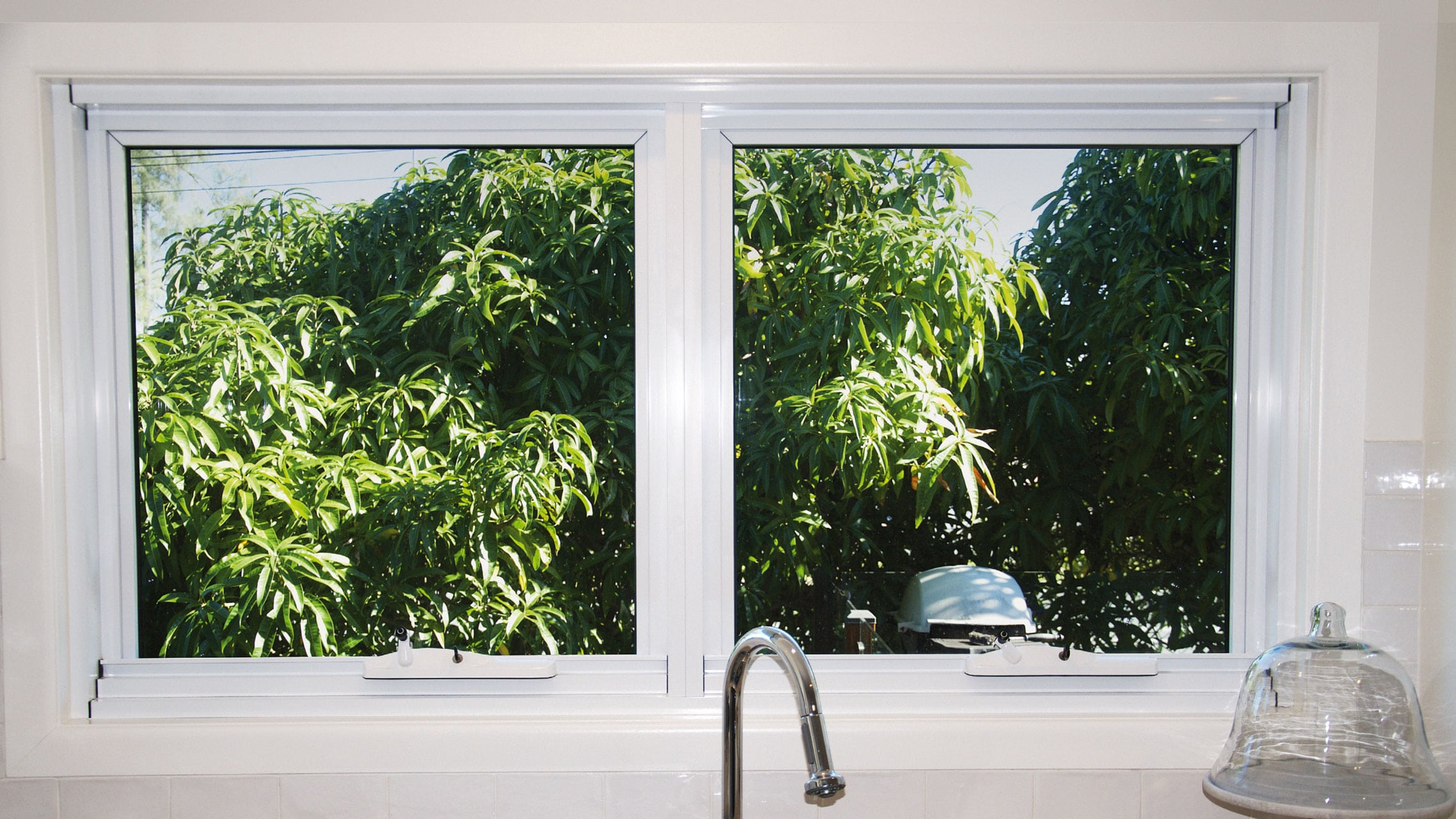 Awning Window above a kitchen bench