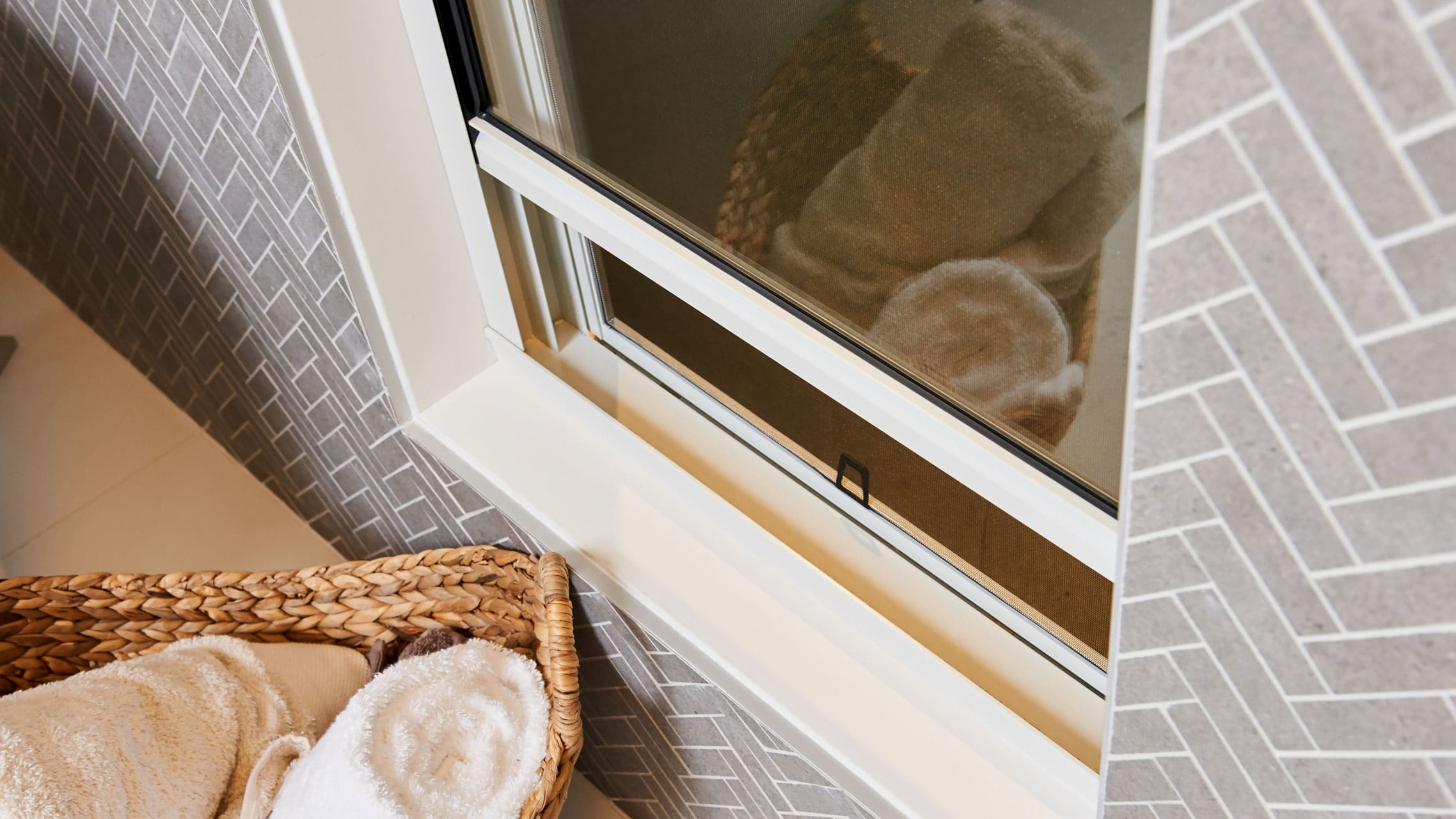 Close up of Double Hung Window