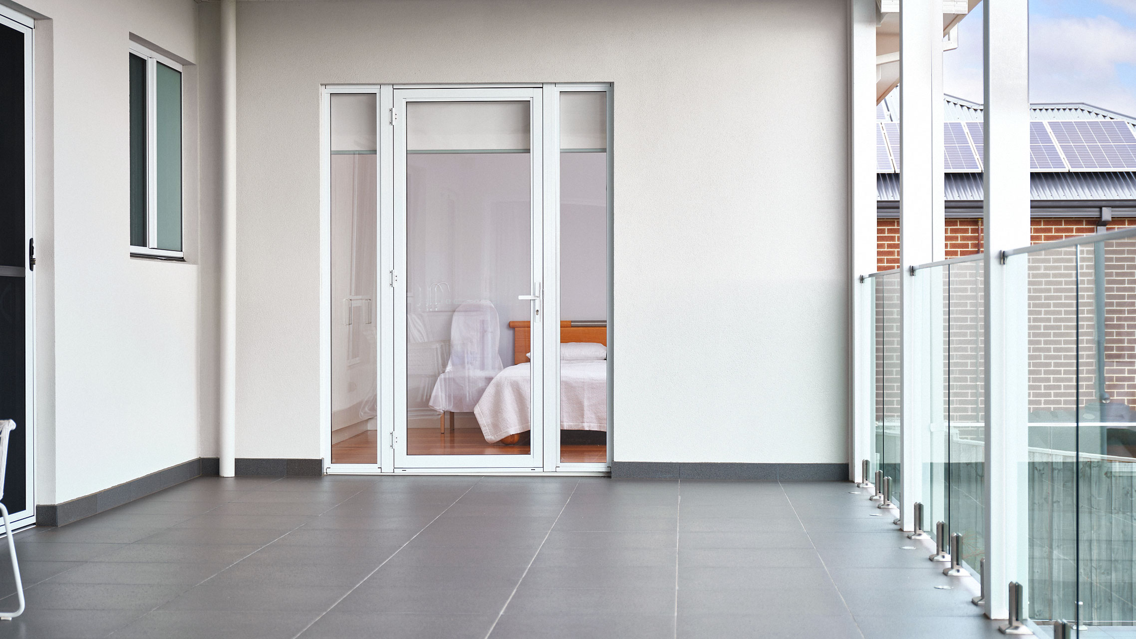 White French Door with side lites
