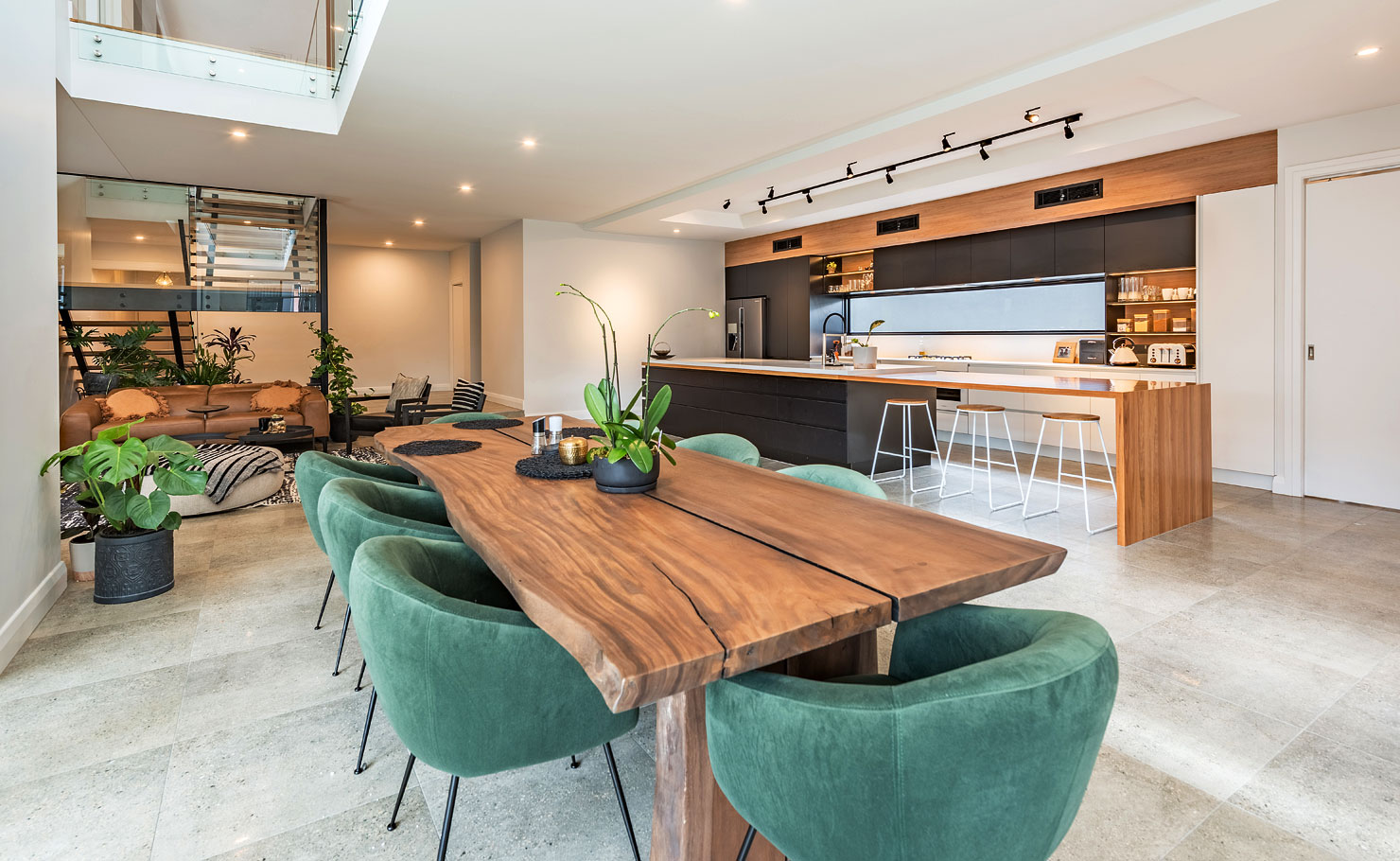Contemporary Kitchen and Dining Room