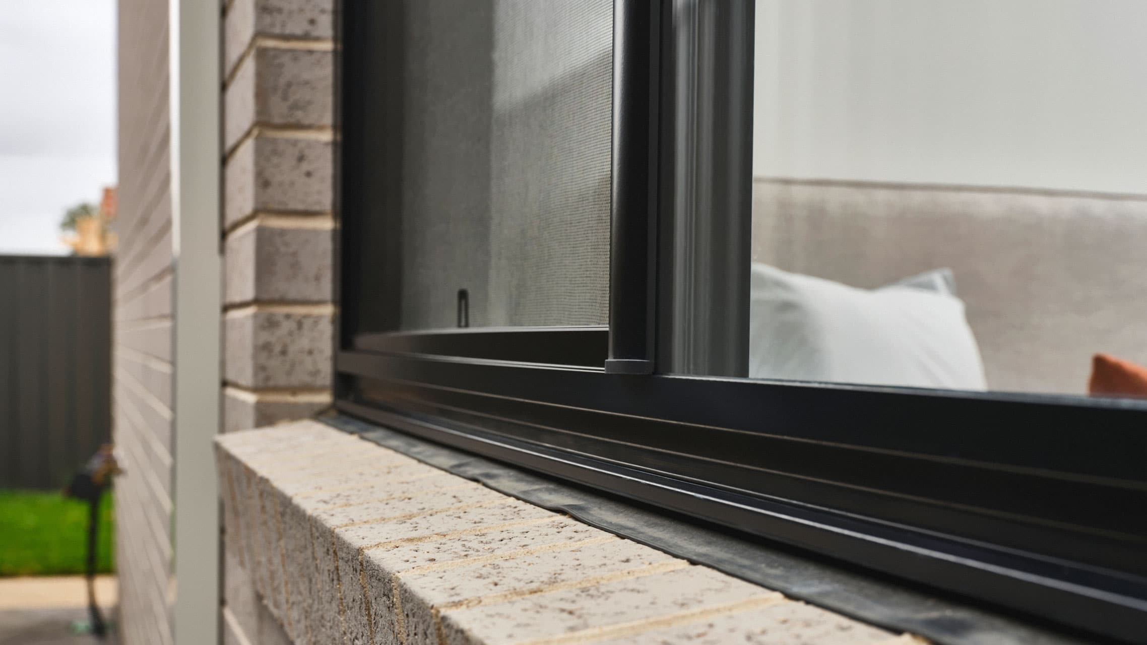Close up of sliding window