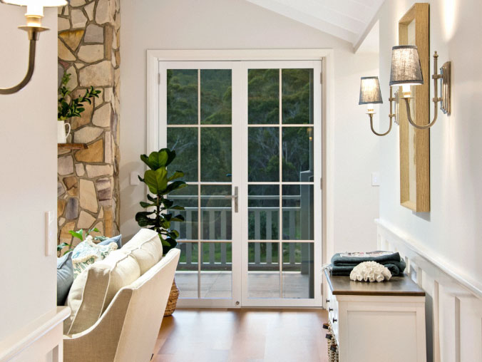 white-french-door