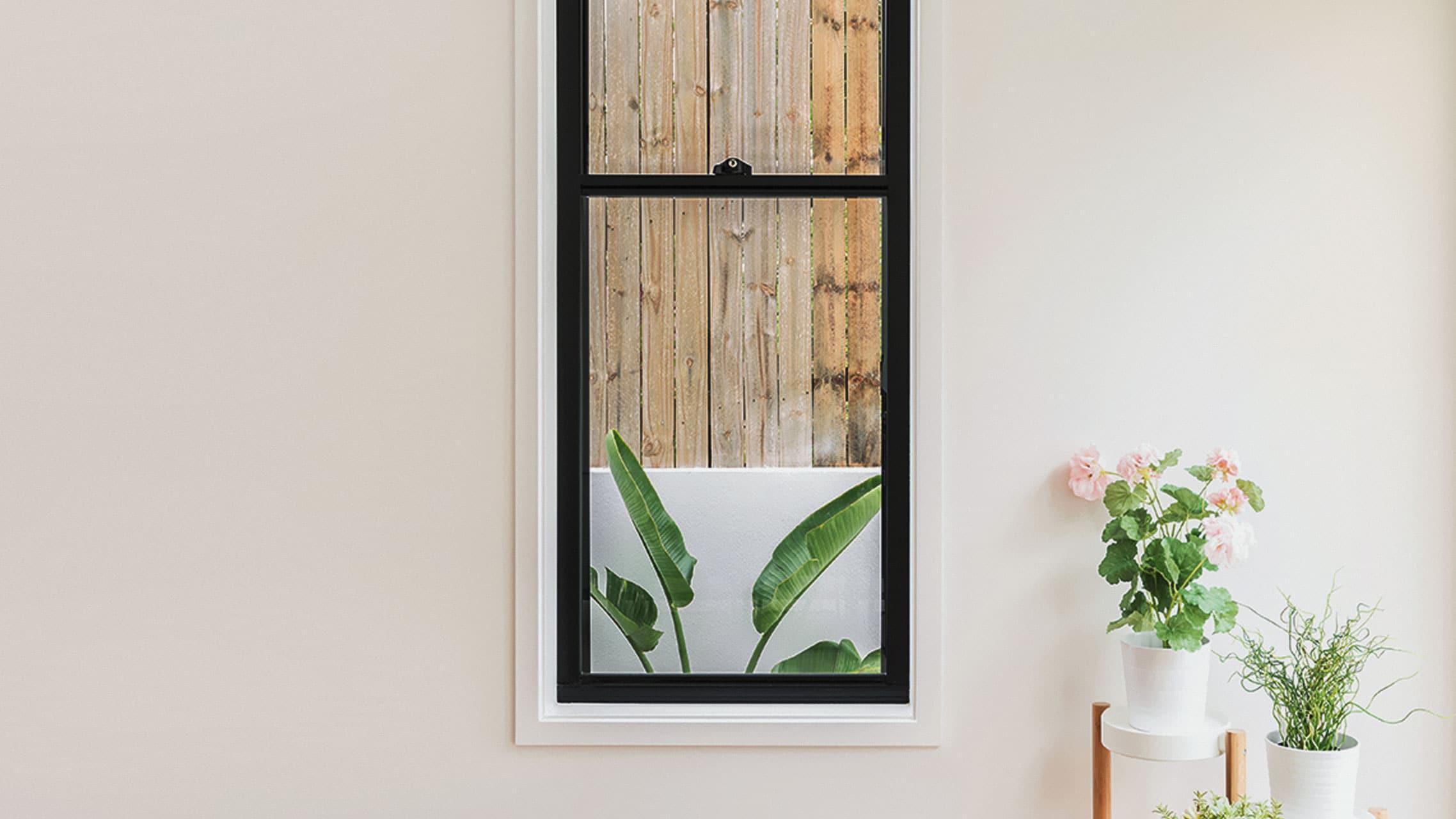 Black Aluminium Sash Window