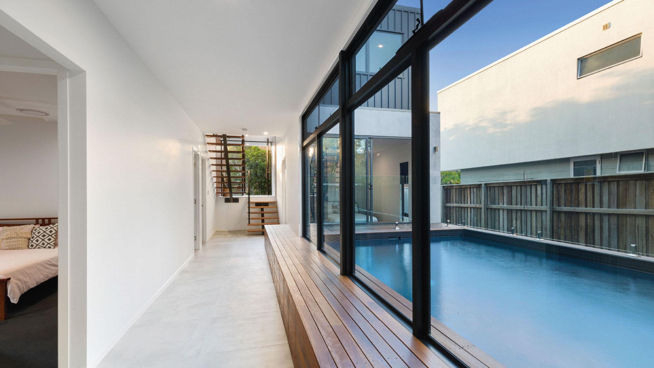 Four Large Aluminium Windows next to each other
