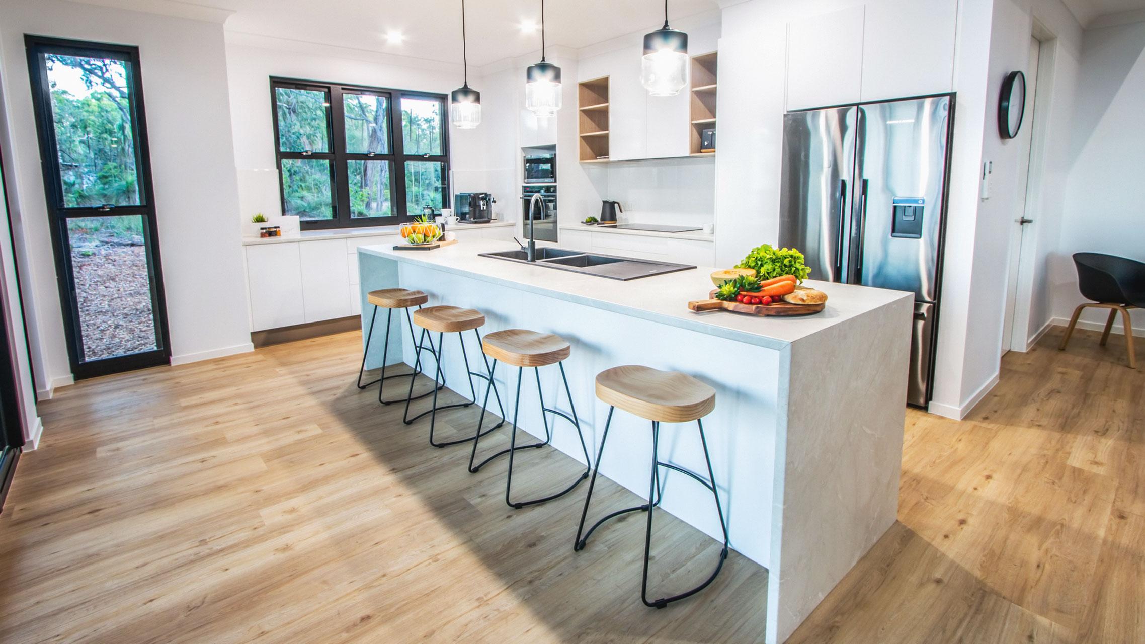 Sash Windows in a kitchen