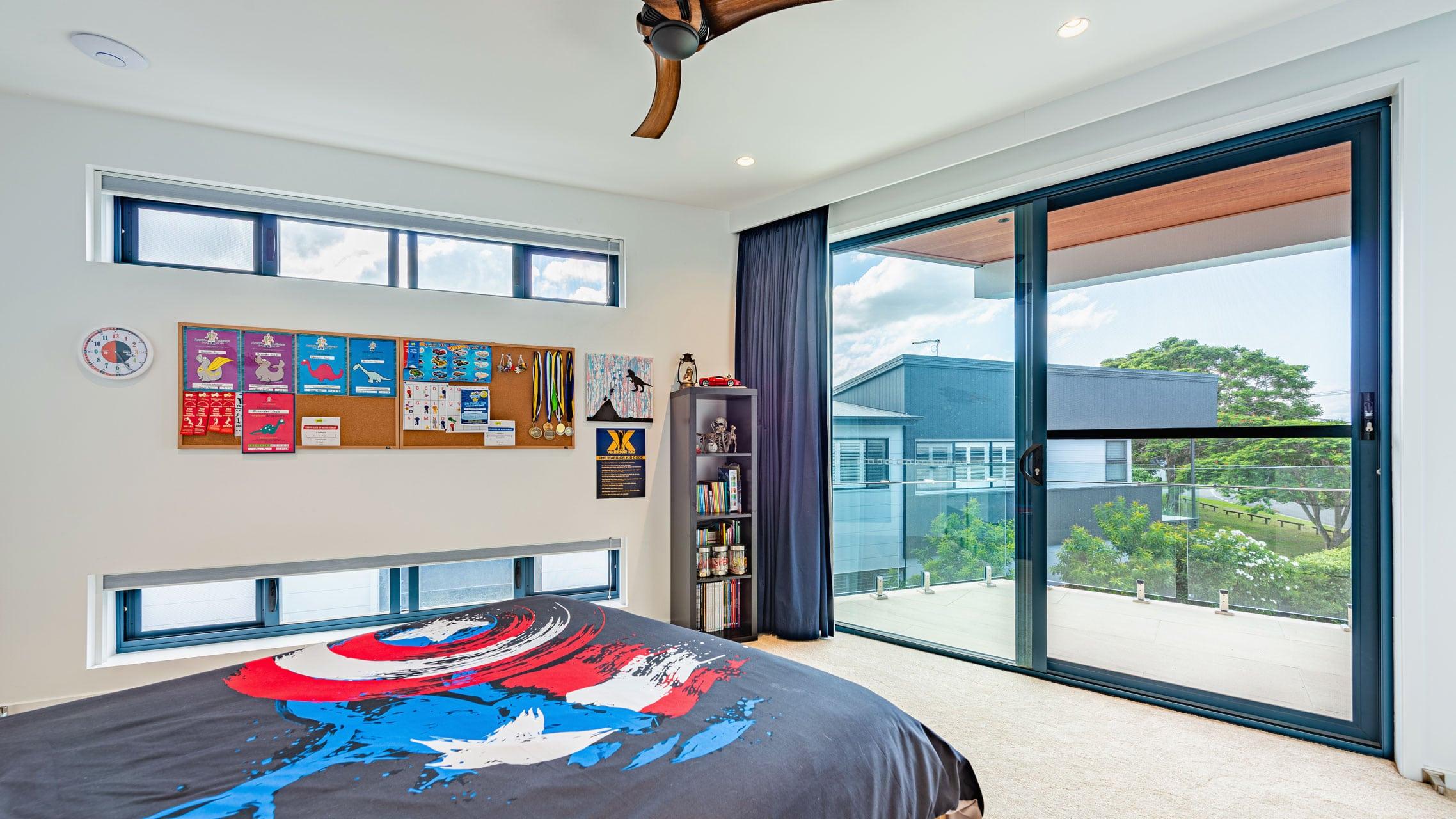 2-panel External Sliding Door in a bedroom