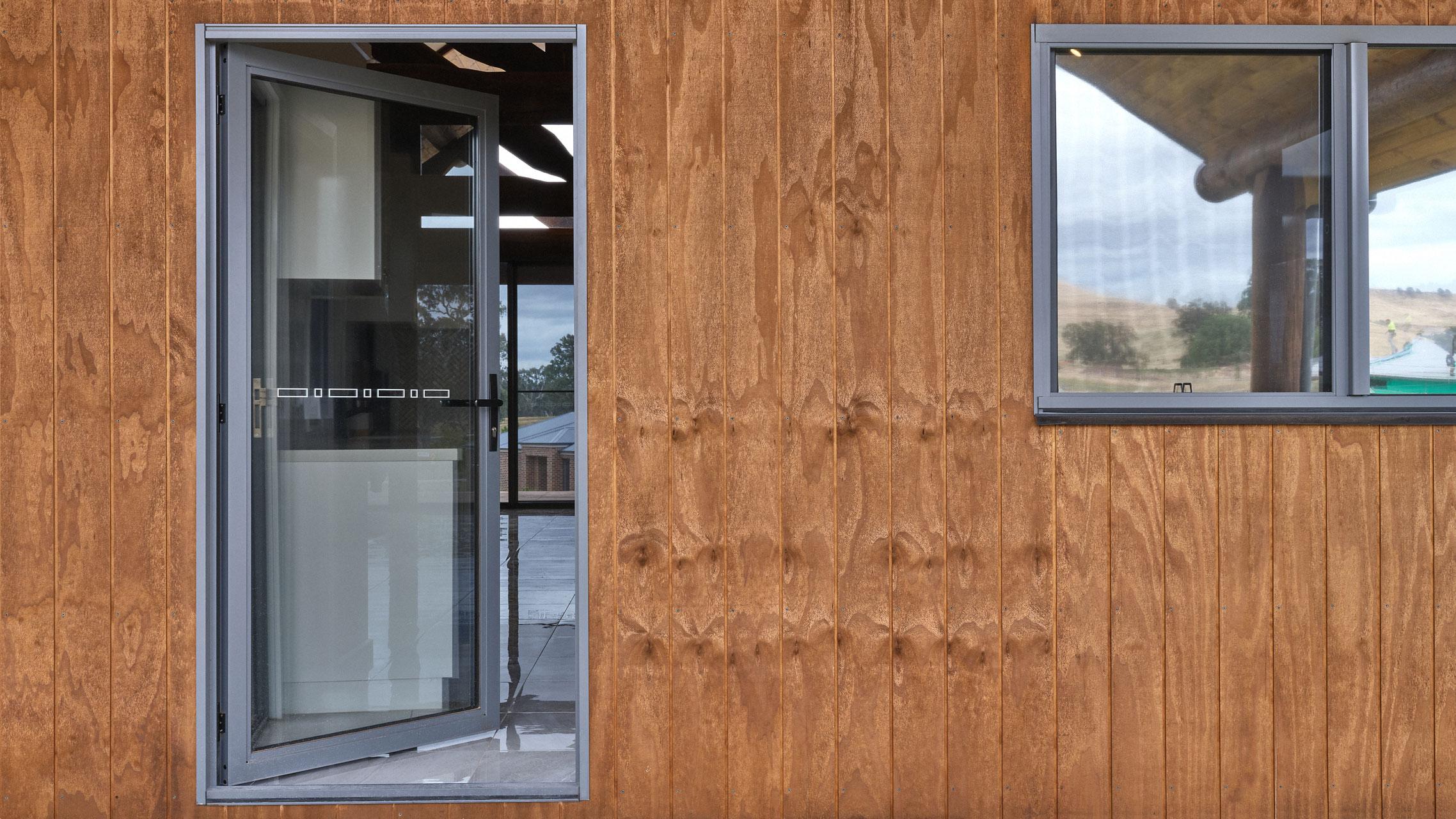 Aluminium French Door opened
