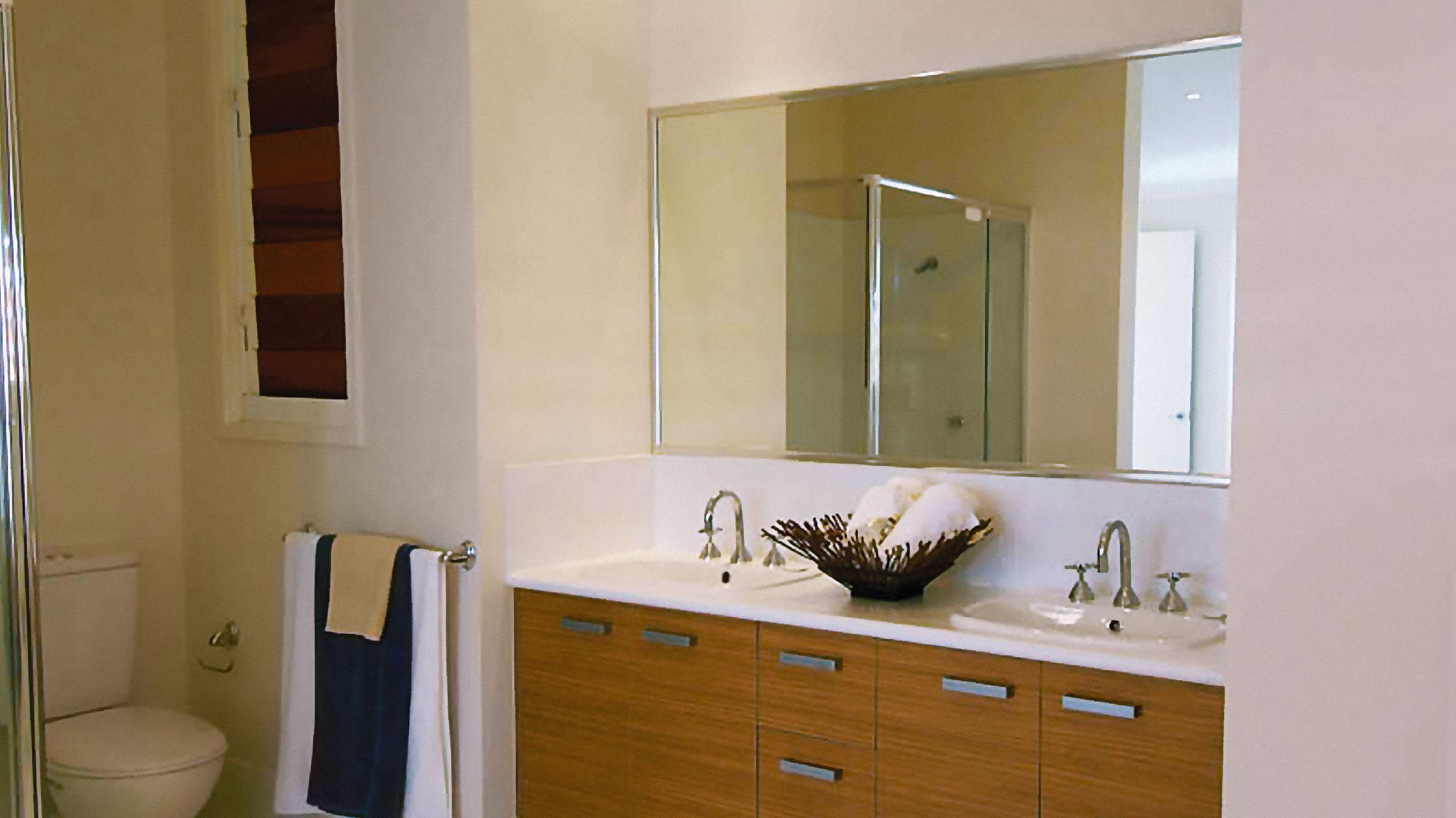 Bathroom Mirror with Polished Silver frame