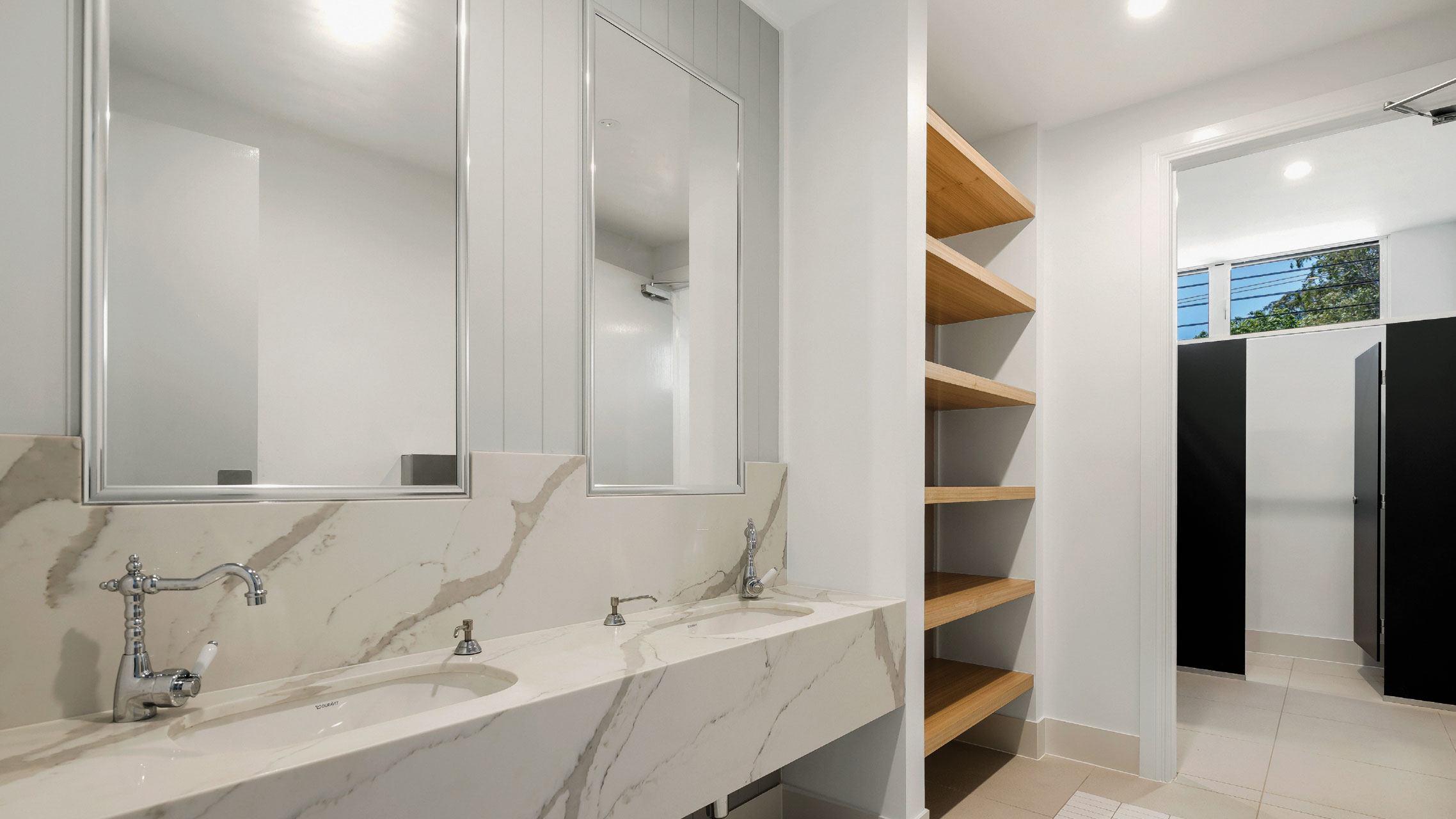 Two Bathroom Mirrors with Ultra Silver frame