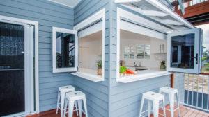 Two kitchen bi fold windows